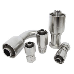 ONE-PIECE COUPLINGS FOR BRAIDED HOSE